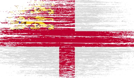 Flag of Sark with old texture.  illustration