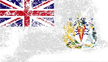 the antarctic: Flag of British Antarctic Territory with old texture.  illustration