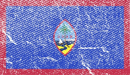 guam: Flag of Guam with old texture.  illustration