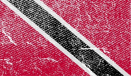 trinidadian: Flag of Trinidad and Tobago with old texture.  illustration