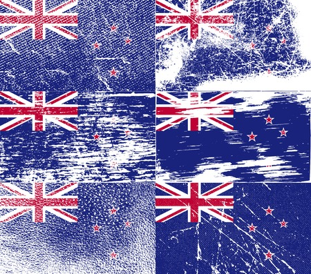 new zeland: Flag of New Zeland with old texture.  illustration
