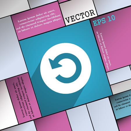 groupware: S�mbolo del icono Dise�o plano web moderno con una larga sombra y el espacio para el texto. Ilustraci�n vectorial