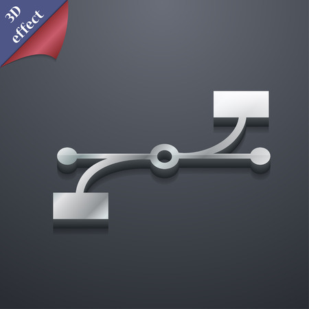 bezier: Bezier Curve  icon symbol. 3D style. Trendy, modern design with space for your text Vector illustration Illustration