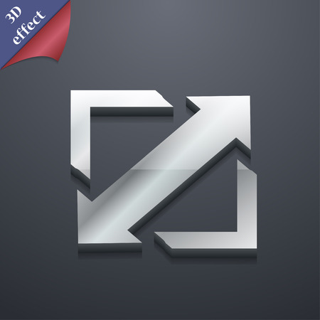 wider: Deploying video, screen size  icon symbol. 3D style. Trendy, modern design with space for your text Vector illustration