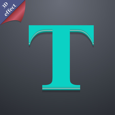 txt: Text edit  icon symbol. 3D style. Trendy, modern design with space for your text Vector illustration