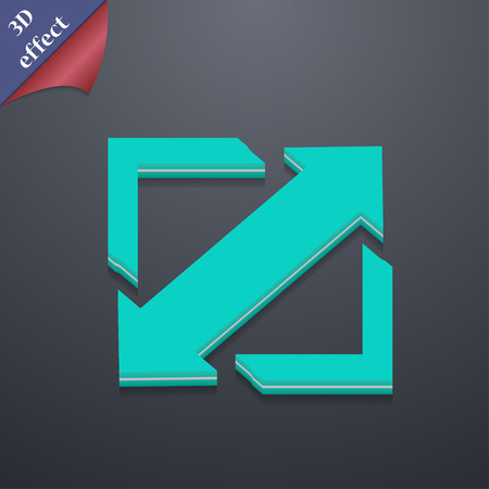 Deploying video, screen size  icon symbol. 3D style. Trendy, modern design with space for your text Vector illustration