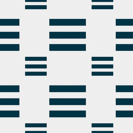 width: Align text to the width icon sign. Seamless pattern with geometric texture. Vector illustration