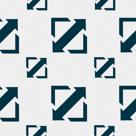 minimize: Deploying video, screen size icon sign. Seamless pattern with geometric texture. Vector illustration