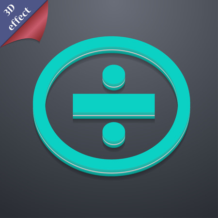 dividing: dividing  icon symbol. 3D style. Trendy, modern design with space for your text Vector illustration