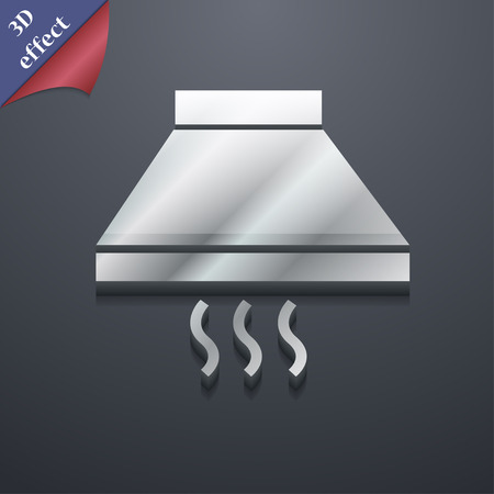 aspirator: Kitchen hood  icon symbol. 3D style. Trendy, modern design with space for your text Vector illustration