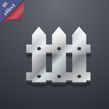 bucolic: Recinto icona simbolo. Stile 3D. Alla moda, design moderno con spazio per il testo vettore