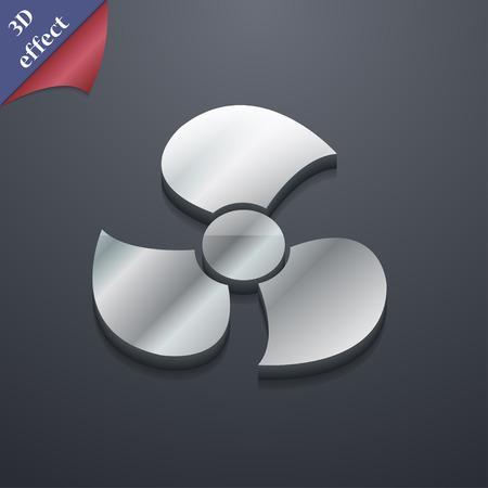 propeller: Fans, propeller icon symbol. 3D style