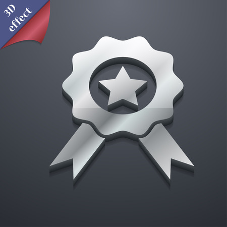 merit: Award, Medal of Honor  icon symbol. 3D style. Trendy, modern design with space illustration