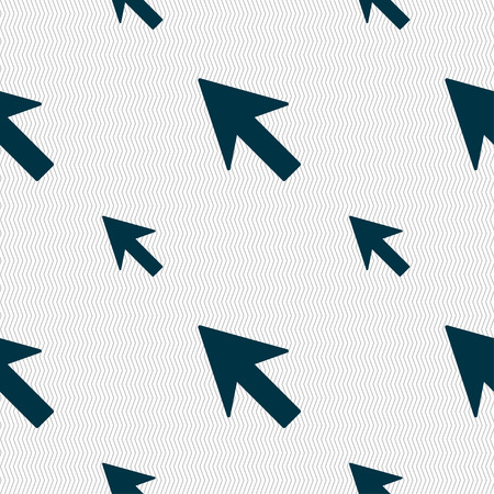cursor arrow: Cursor, arrow icon sign. Seamless pattern with geometric texture