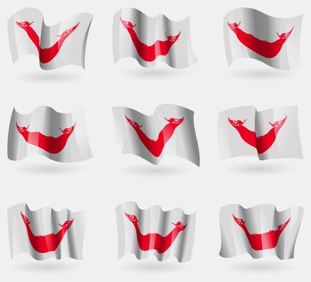 rapa nui: Conjunto de los indicadores Eaaster Rapa Nui en el aire. Ilustración vectorial