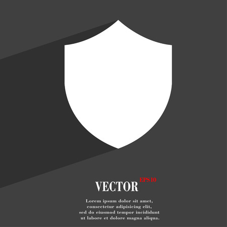 security token: Shield, Protection  icon symbol Flat modern web design with long shadow and space for your text. Vector illustration Illustration