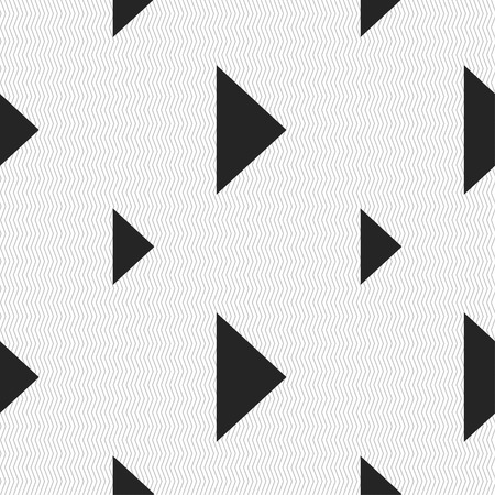 inactive: play button icon sign. Seamless pattern with geometric texture. Vector illustration
