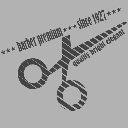 groomed: Vintage barber shop logo, labels, badges and design element.  illustration