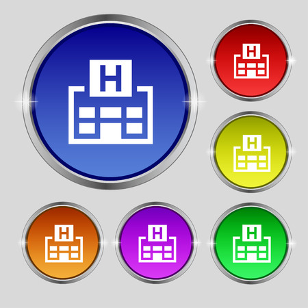 big break: Hotkey icon sign. Round symbol on bright colourful buttons. Vector illustration Illustration