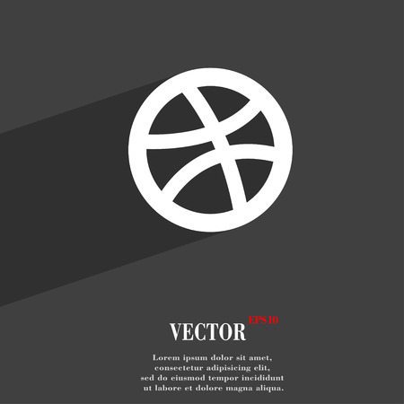 Basketball  icon symbol Flat modern web design with long shadow and space for your text. Vector illustration Vector