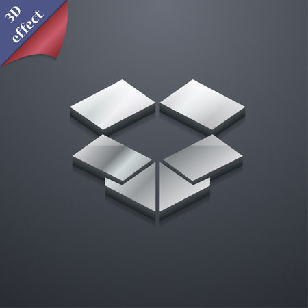 open box: open box  icon symbol. 3D style. Trendy, modern design with space for your text Vector illustration