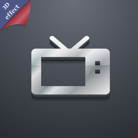 3d mode: Retro TV mode  icon symbol. 3D style. Trendy, modern design with space for your text Vector illustration Illustration