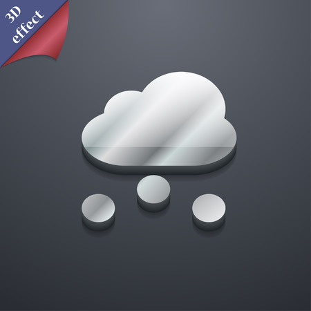 snowing: snowing  icon symbol. 3D style. Trendy, modern design with space for your text Vector illustration Illustration