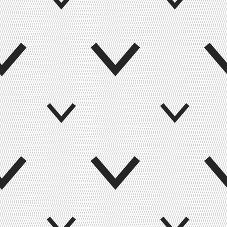 down load: Arrow down, Download, Load, Backup icon sign. Seamless pattern with geometric texture. Vector illustration