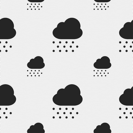 snowing: snowing icon sign. Seamless pattern with geometric texture. Vector illustration