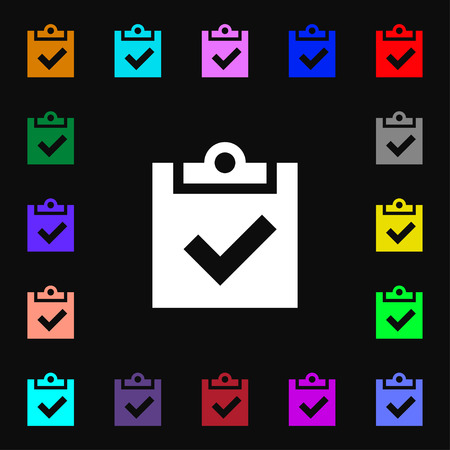 tik: Check mark, tik  icon sign. Lots of colorful symbols for your design. Vector illustration