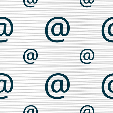 media distribution: E-Mail icon sign. Seamless pattern with geometric texture. Vector illustration
