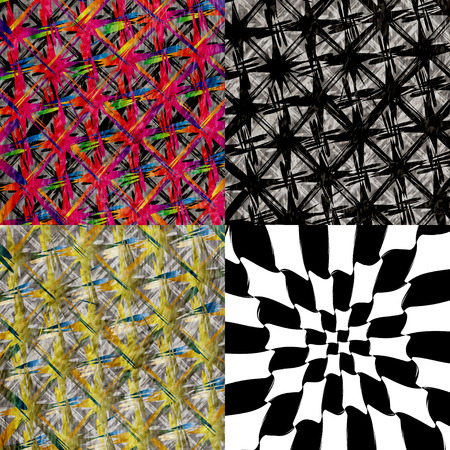 chequer: Set of abstract, vintage, old and empty grungy backgrounds.  illustration