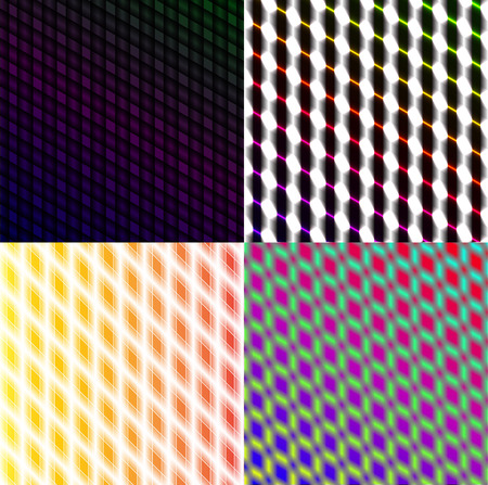 Set of dark abstract spectrum background lines.  illustration