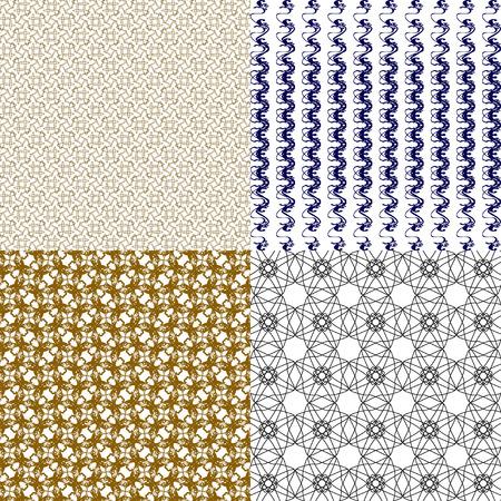 line pattern: Set of  geometric pattern in op art design.  illustration art