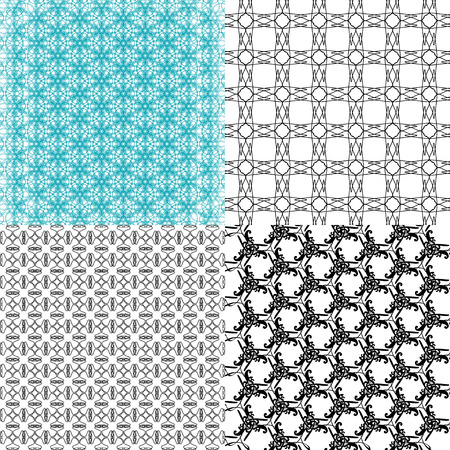 op: Set of  geometric pattern in op art design.  illustration art