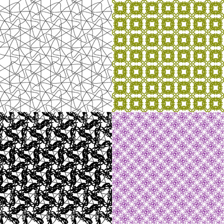 Set of  geometric pattern in op art design.  illustration art