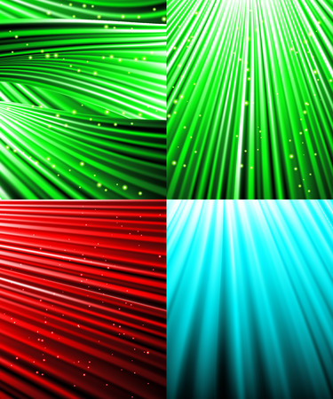 air show: Set of background of colourful luminous rays.  illustration Stock Photo