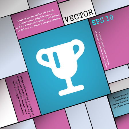 awarding: Winner cup, Awarding of winners, Trophy  icon sign. Modern flat style for your design. Vector illustration