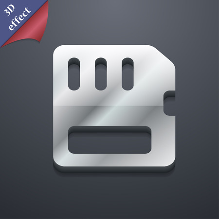 memory card: compact memory card  icon symbol. 3D style. Trendy, modern design with space for your text Vector illustration