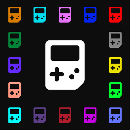 tetris: Tetris  icon sign. Lots of colorful symbols for your design. Vector illustration Illustration