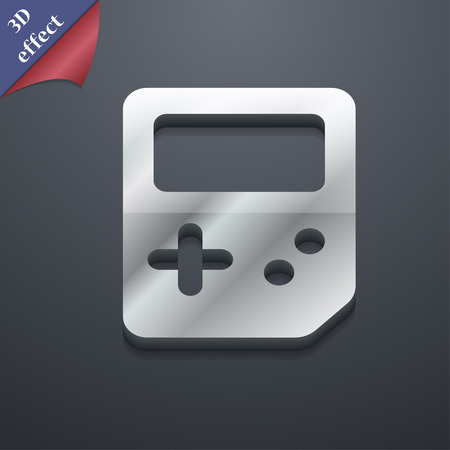 tetris: Tetris  icon symbol. 3D style. Trendy, modern design with space for your text Vector illustration