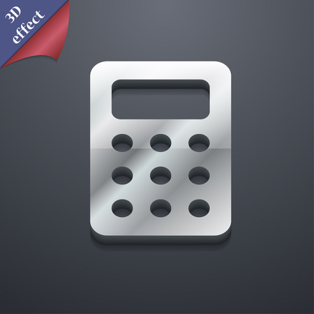 calc: Calculator, Bookkeeping  icon symbol. 3D style. Trendy, modern design with space for your text Vector illustration Illustration