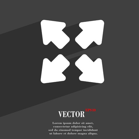 wider: Deploying video, screen size  icon symbol Flat modern web design with long shadow and space for your text. Vector illustration