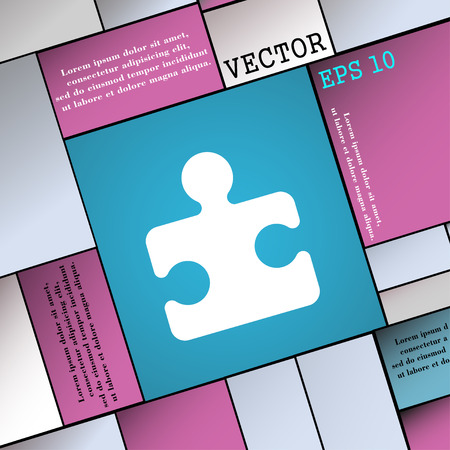 puzzle corners: Puzzle piece  icon sign. Modern flat style for your design. Vector illustration