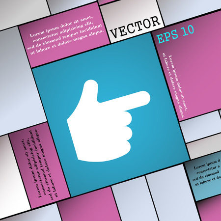 www arm: pointing hand  icon sign. Modern flat style for your design. Vector illustration