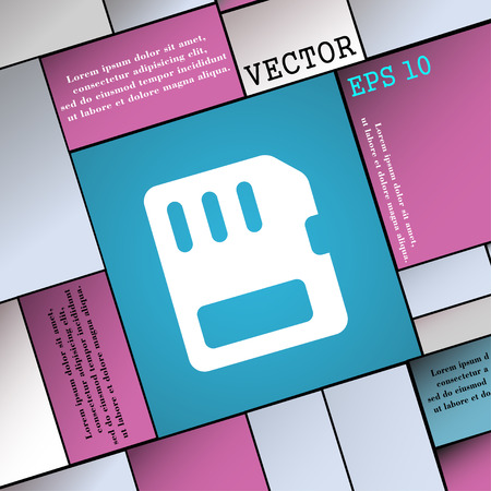 memory card: compact memory card  icon sign. Modern flat style for your design. Vector illustration