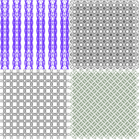 Set of abstract vintage geometric wallpaper pattern background.  illustration