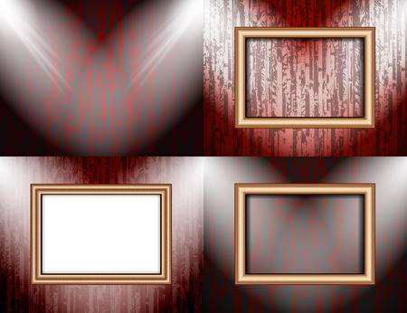 renovate: Set of Background with frames and spotlights.  illustration