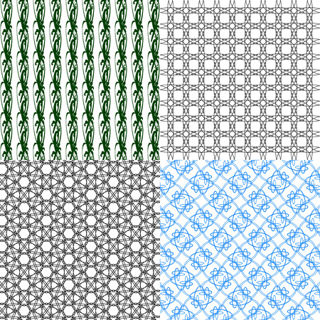 op art: Set of  geometric pattern in op art design.  illustration art