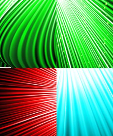 miraculous: Set of Abstract luminous rays background.  illustration